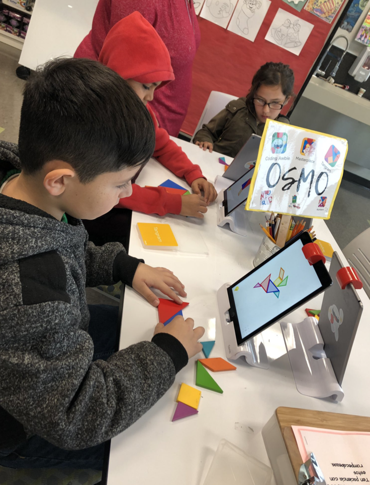 Students love solving TANGRAM puzzles on the Osmo