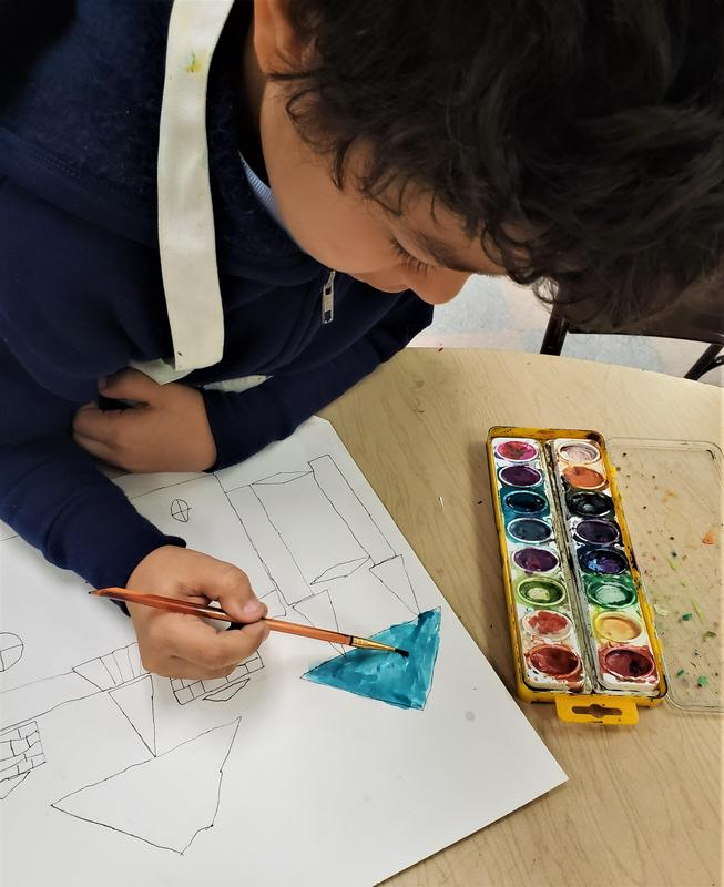 Daly's 2nd grade ART students paint Victorian Architecture projects (6).jpg