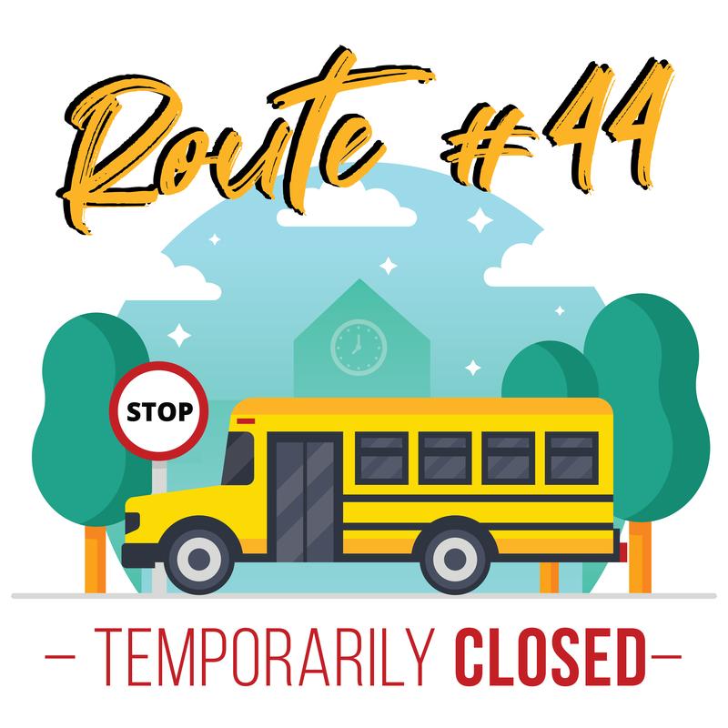 bus route closure #44