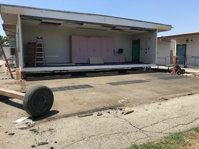 Moving portable classrooms