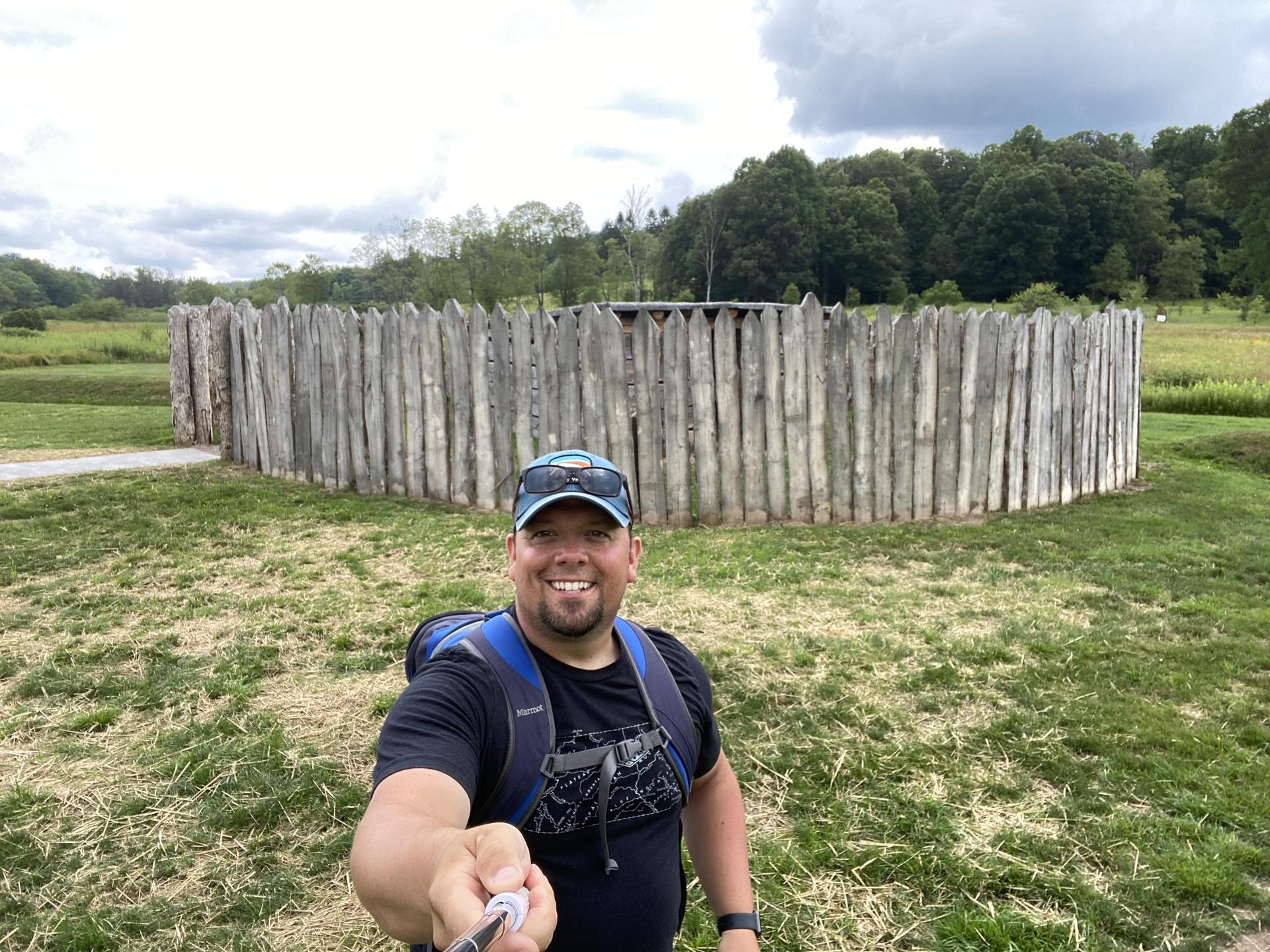 Mr. Behe visiting Fort Necessity.