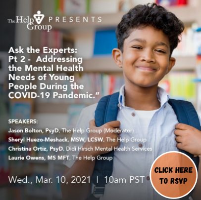 Ask The Experts: Pt 2 - Addressing the Mental Health Needs of Young People During the COVID-19 Pandemic Featured Photo