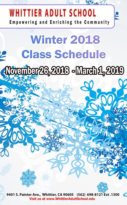 Winter 2018 Class Schedule Featured Photo