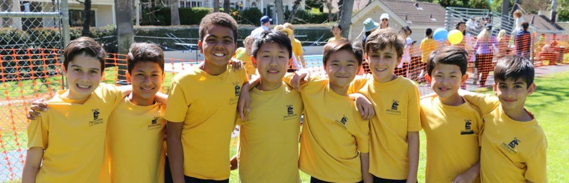 High Point Academy Boys track team.