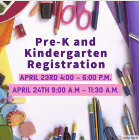 Pre-K and Kindergarten Registration postponed