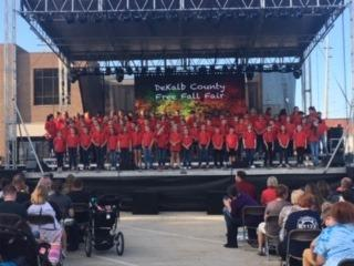 Choir at the fair