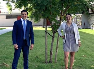 Javier Ortega and Evelyn Barba