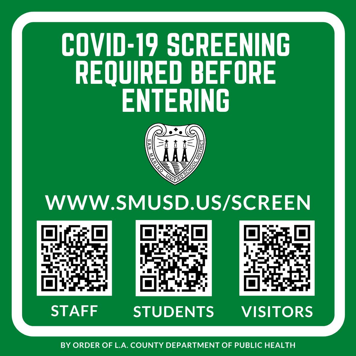 SMUSD Screening - Green Sign
