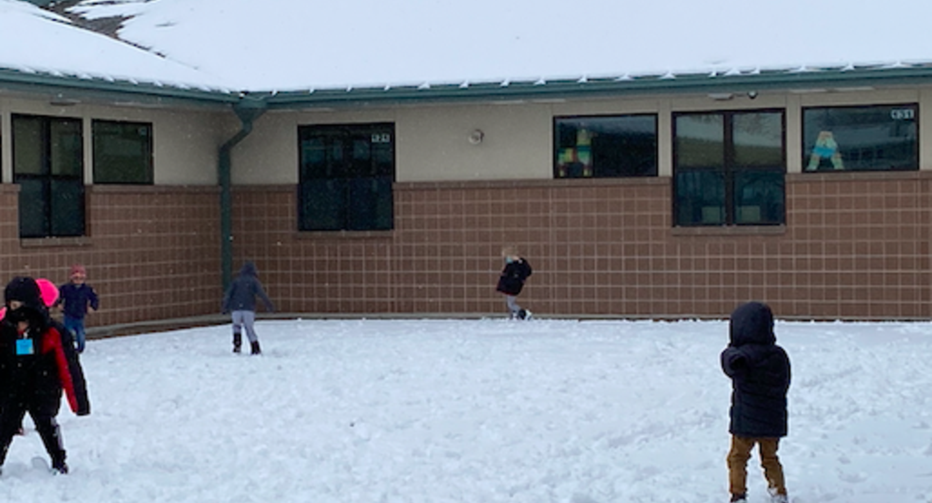 Playing in the snow Feb 12