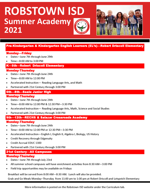 2020-2021 Summer Academy Information Featured Photo