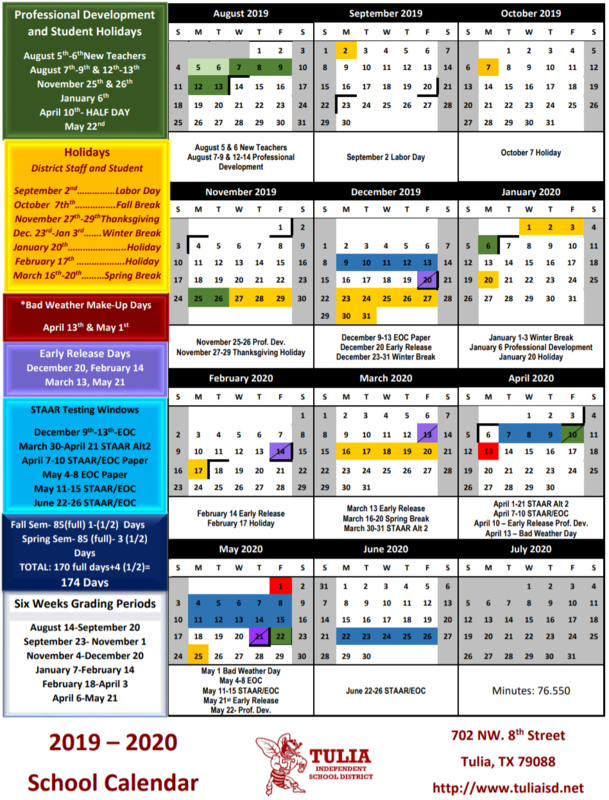 2019 - 2020 District Calendar is here! Thumbnail Image