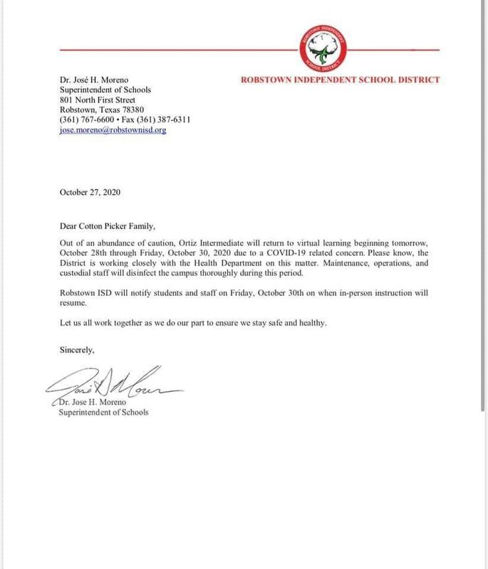 Please see memo below from Dr. Moreno Superintendent of Schools Featured Photo