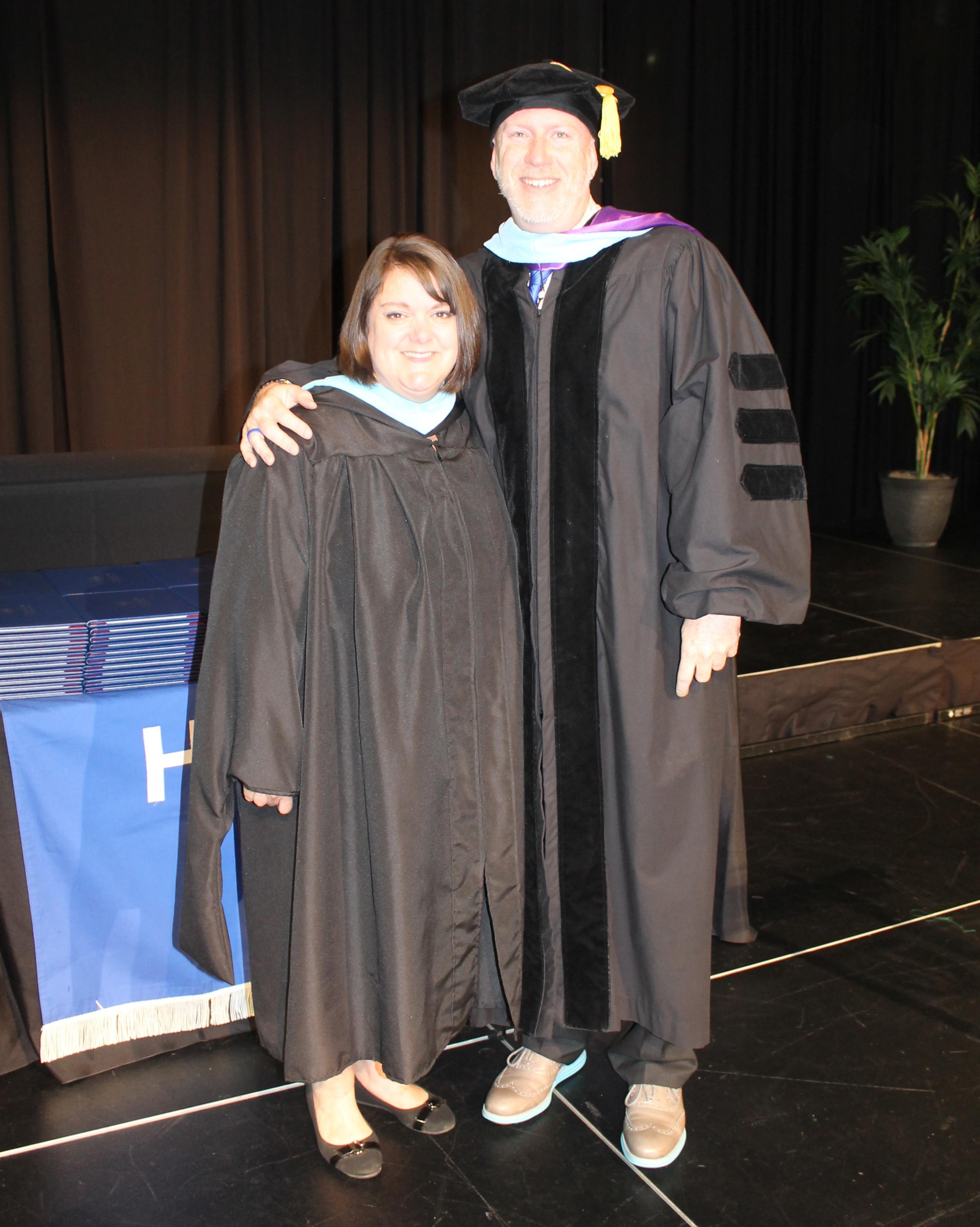 Assistant Principal Shannon Schliwa and Principal Dr. Lee Rector