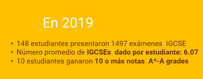 Resultados IGCSE 2019