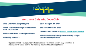WES Girls Who Code Club