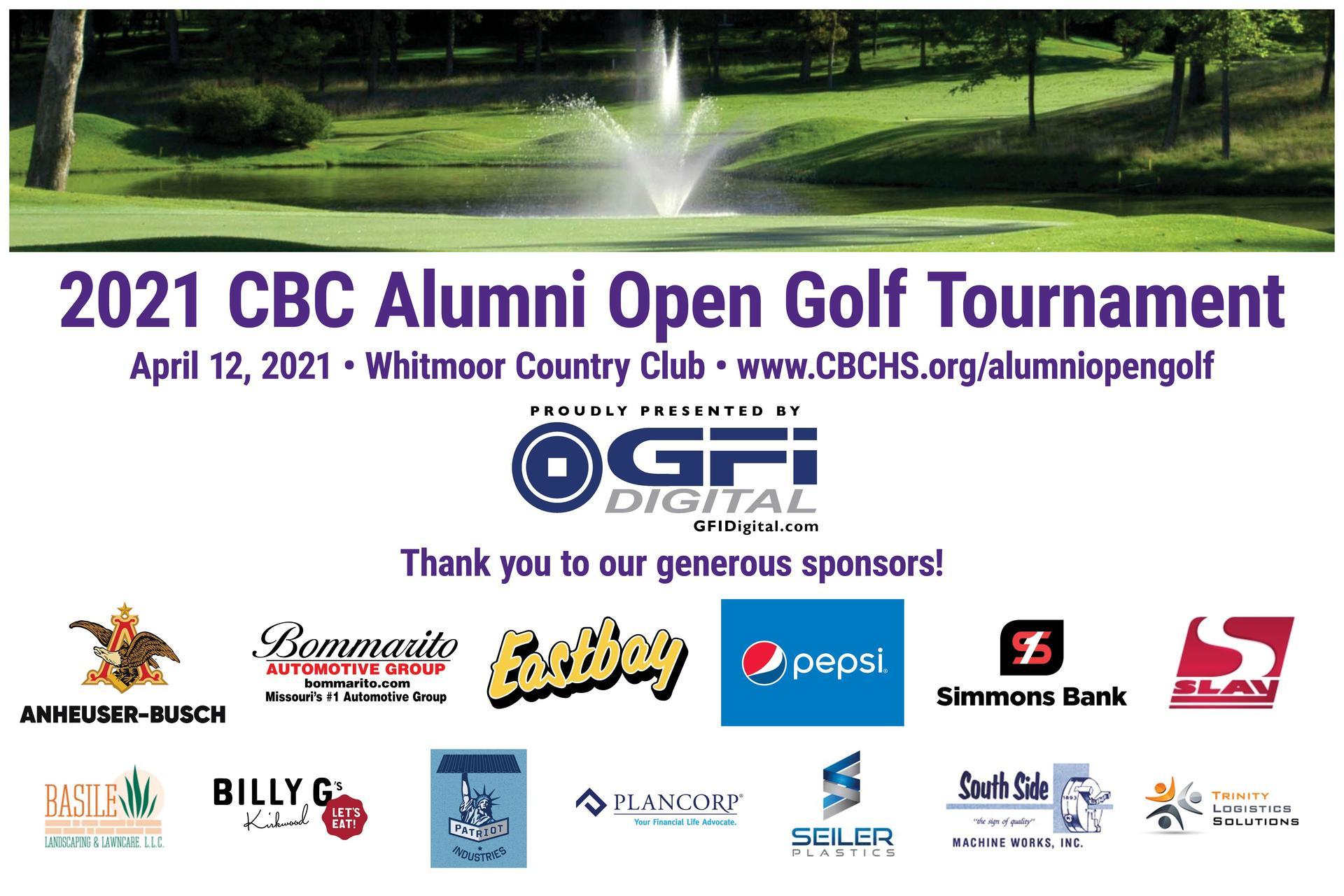 2021 CBC Alumni Open Golf Tournament