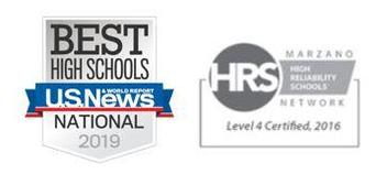 U.S. News & World Report 2019 National Silver Award and Level 4 Certification as a Marzano High Reliability School