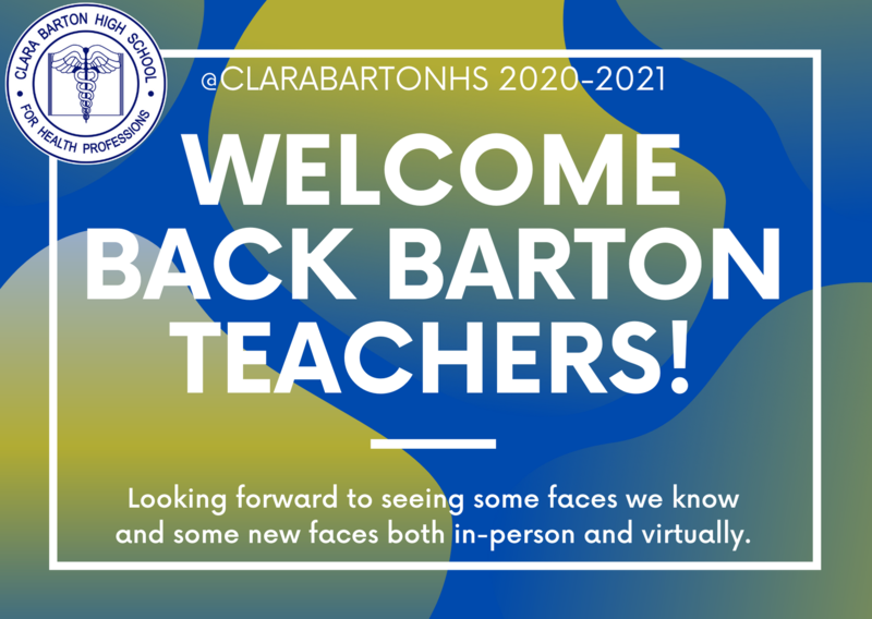 Welcome back new and returning teachers