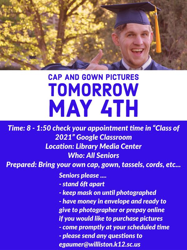 Cap and Gown Pictures May 4th