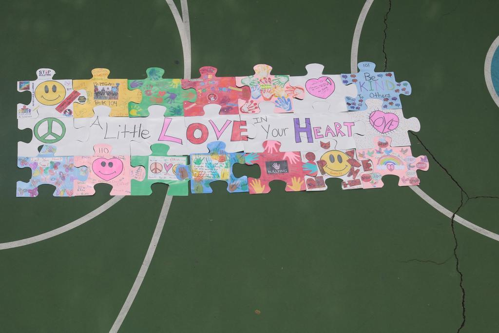happy rainbow puzzle piece #14