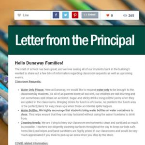 header to principal newsletter