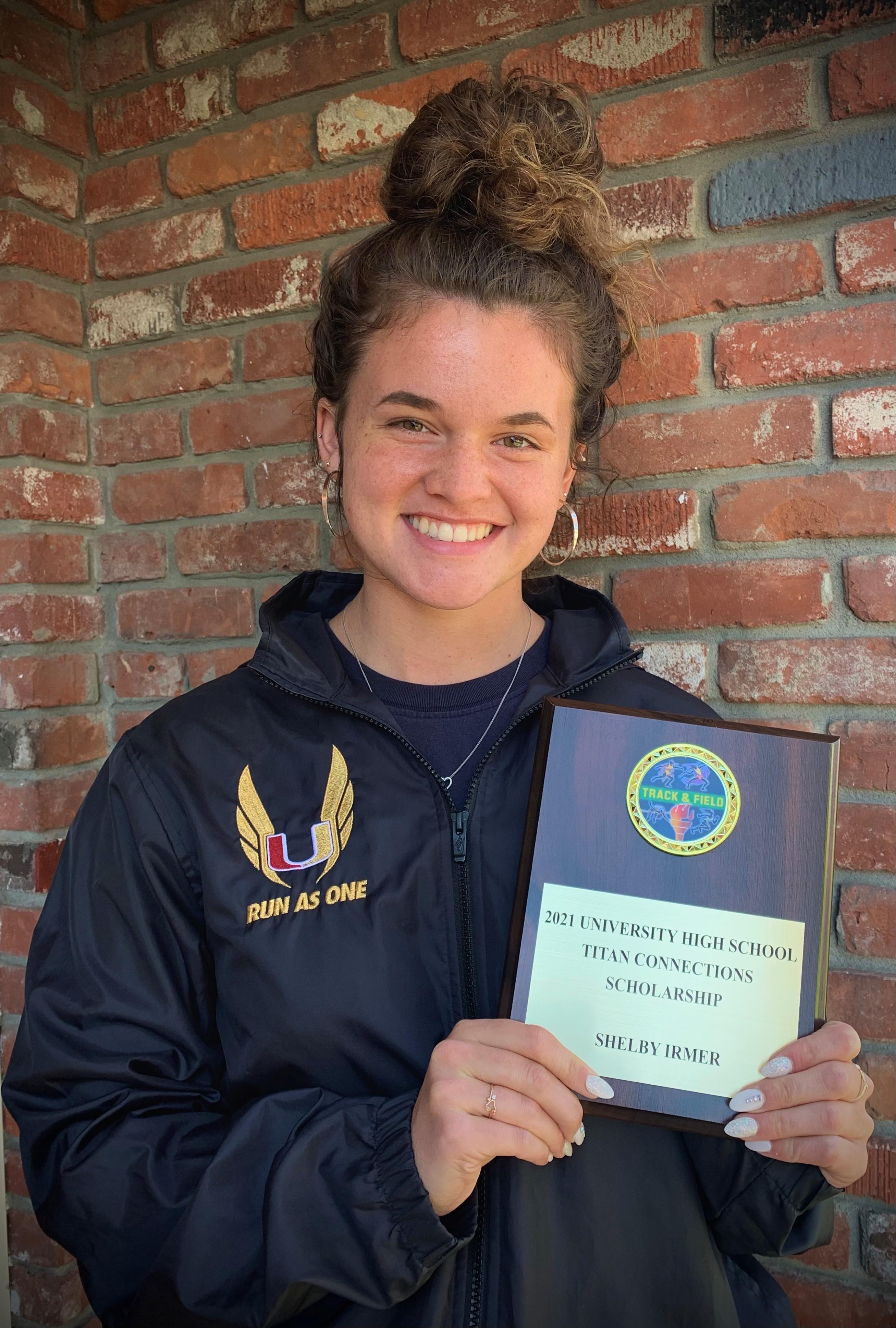 Shelby Irmer Award Winner