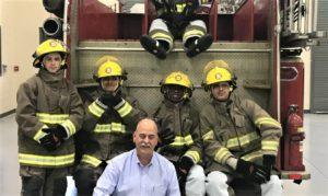 Firefighting students and instructor David Crossland (provided photo)