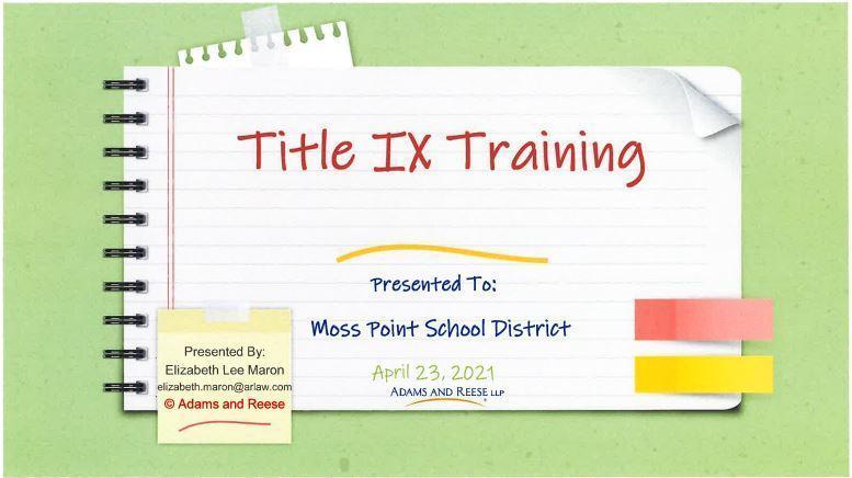 Title IX Training slides