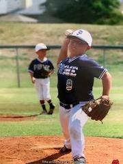 Breckon playing baseball!