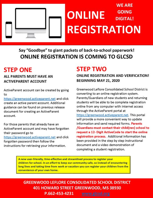 GLCSD ONLINE REGISTRATION INFORMATION Featured Photo