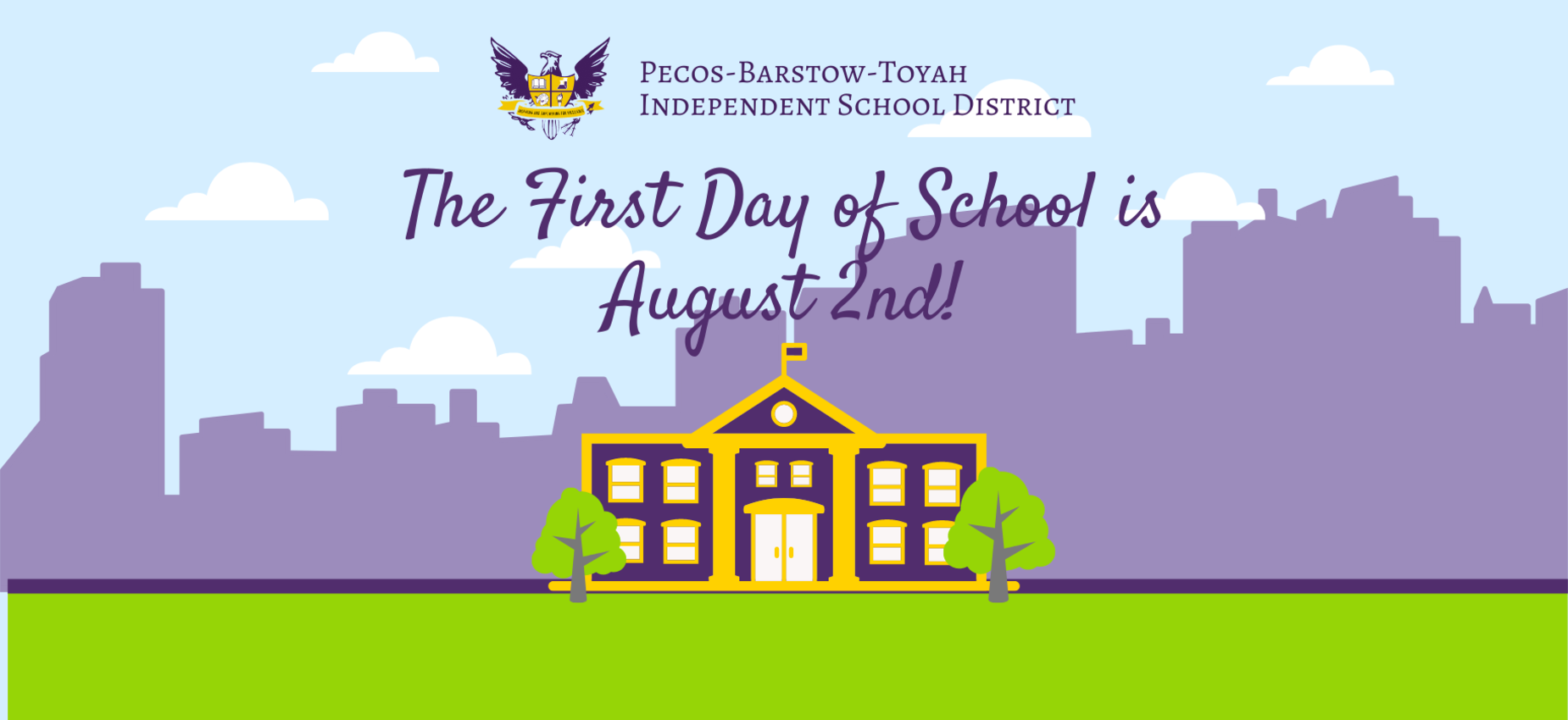 First Day of School August 2nd