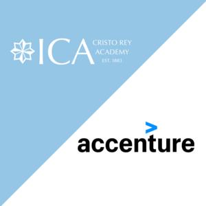 logos ICA Cristo Rey and Accenture