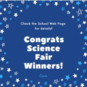 Congratulations Science Fair Winners