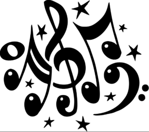 Clip art of music notes