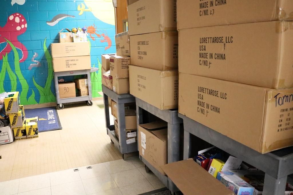 Photo of boxes of toys