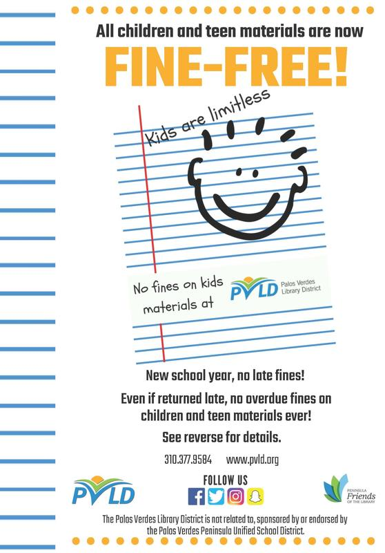 PVLD - No fees for kids flyer