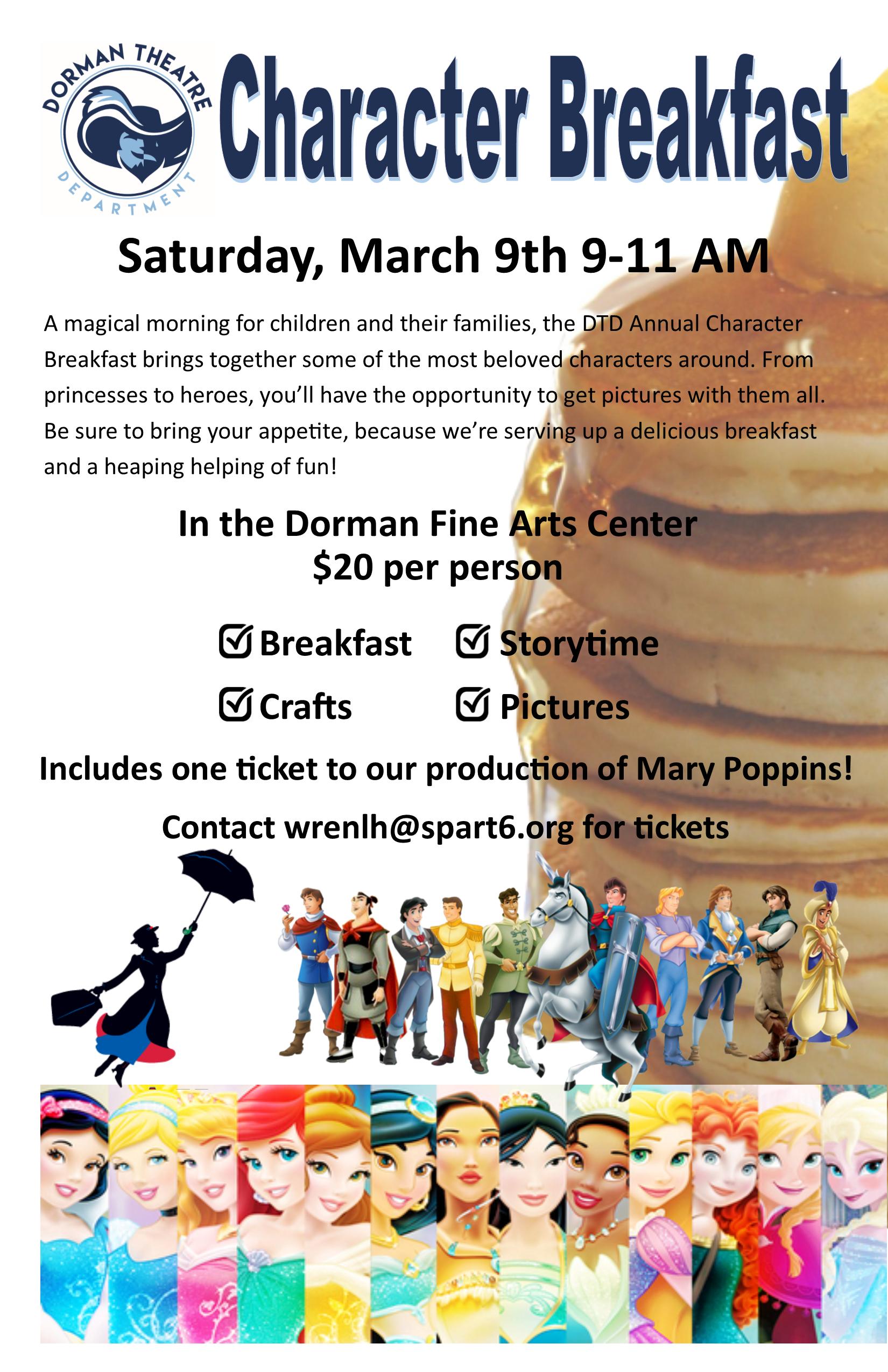character breakfast poster