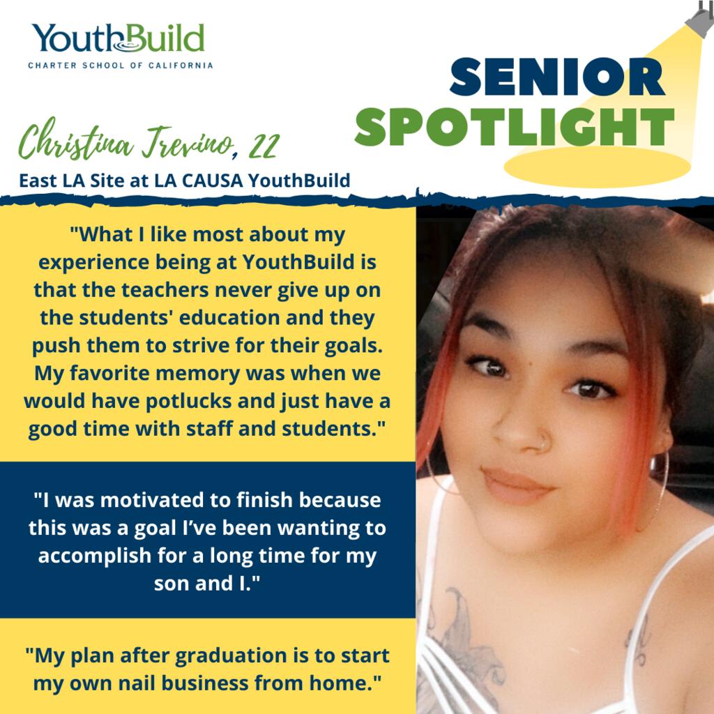 Senior Spotlight for graduate Christina Trevino