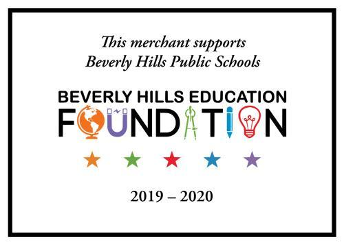 this merchant supports beverly hills public schools