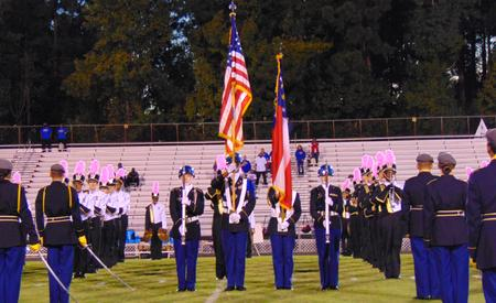 EHS JROTC Saber Team and Color Guard