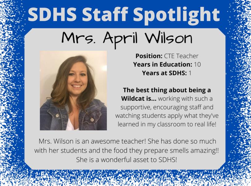 Staff Spotlight - April Wilson