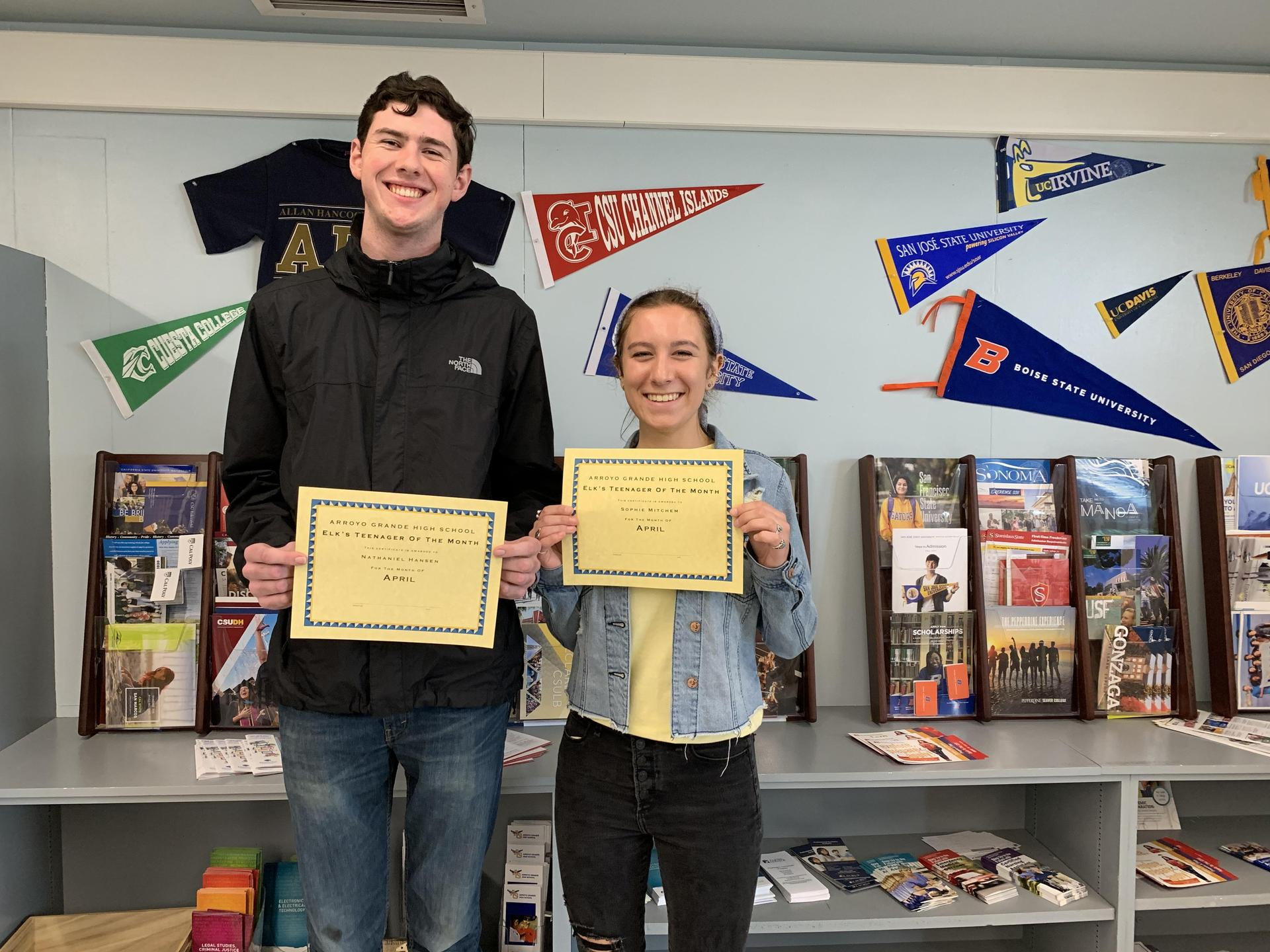 April ELKS Teens of the Month