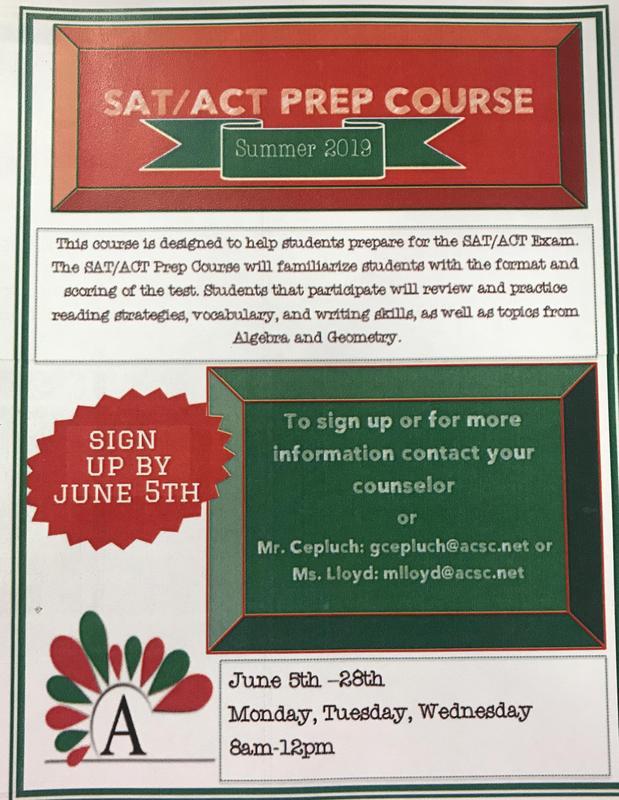 ACT/SAT prep course