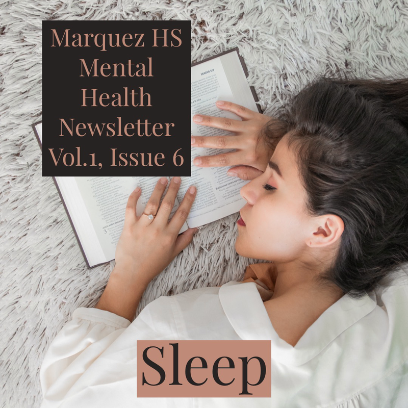 Marquez HS Mental Health Newsletter Vol.1, Issue 6 Thumbnail Image