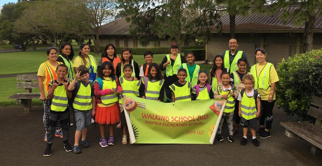 Walk to School participants
