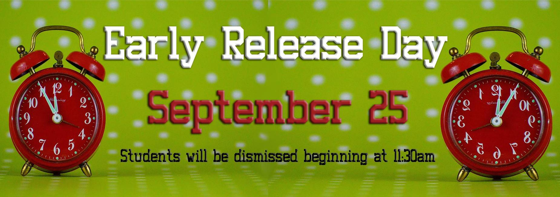 Early Release September 25