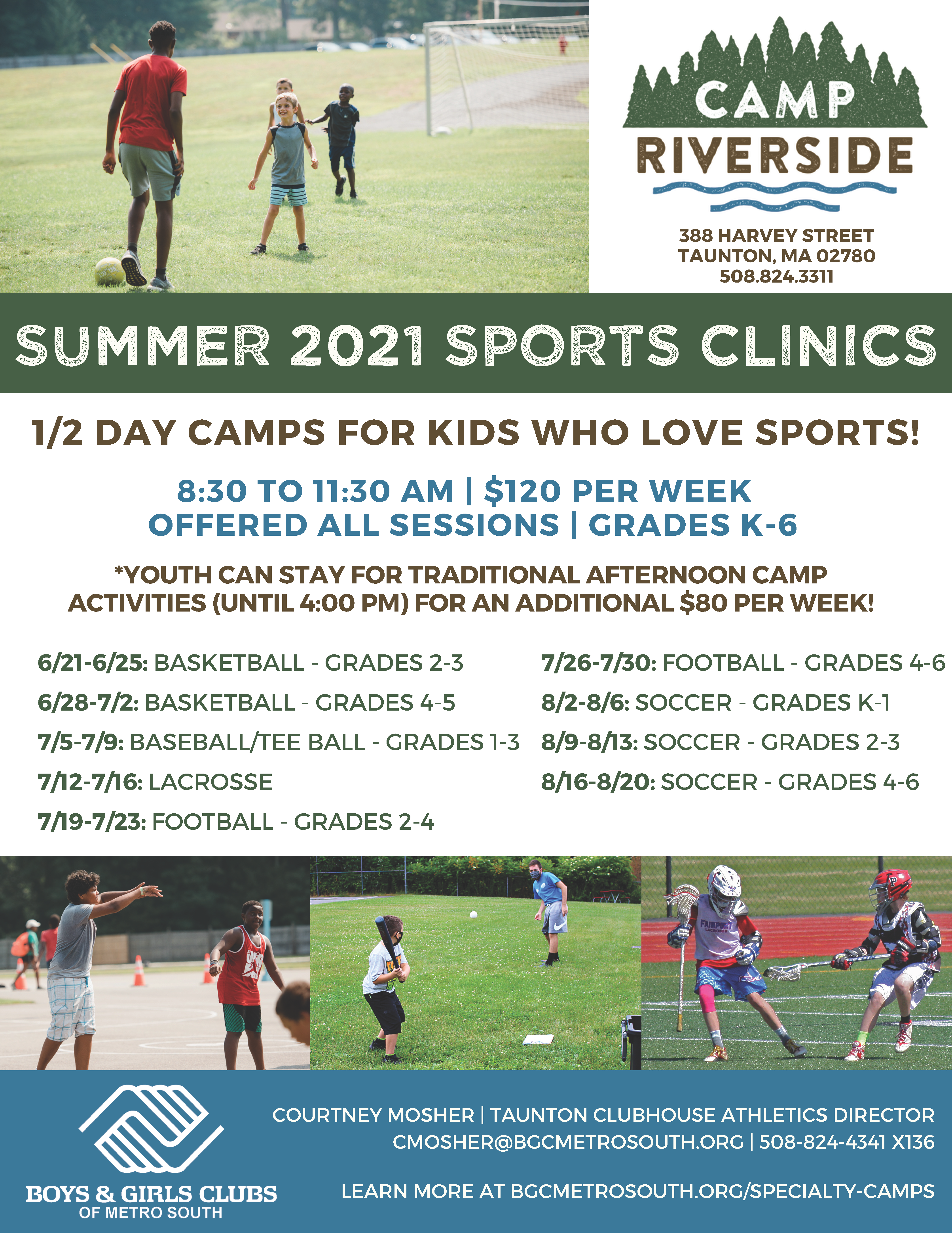 Camp Riverside Summer Sports Clinics