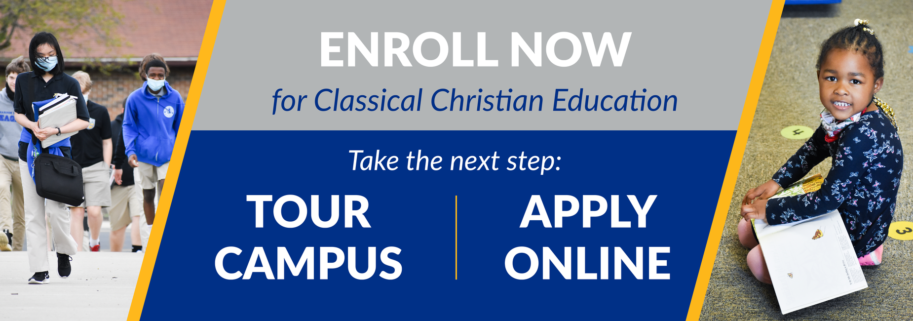 enroll now for classical christian education