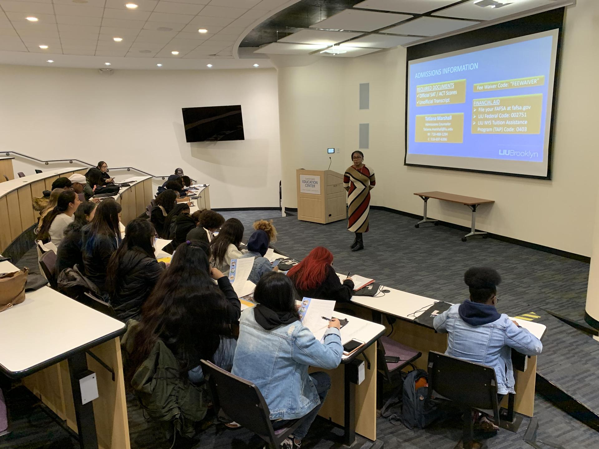 Admissions Information Classroom