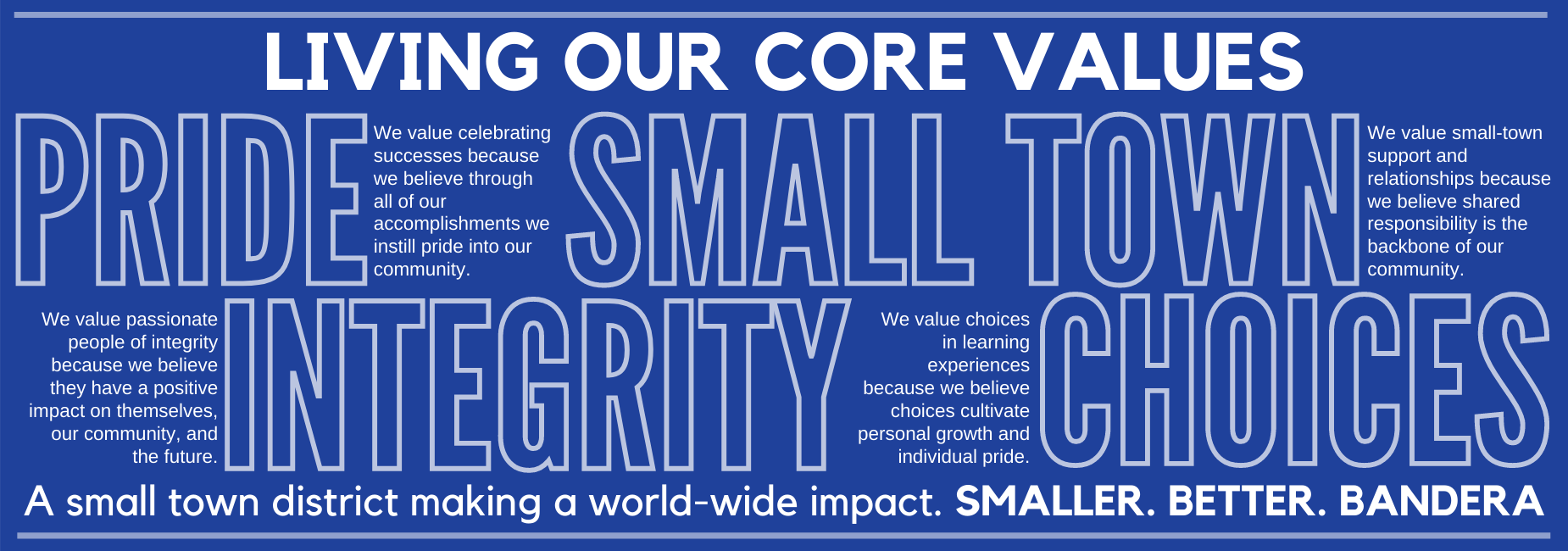 Living our core values